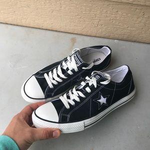 Black Converse Chuck Taylors Low Tops